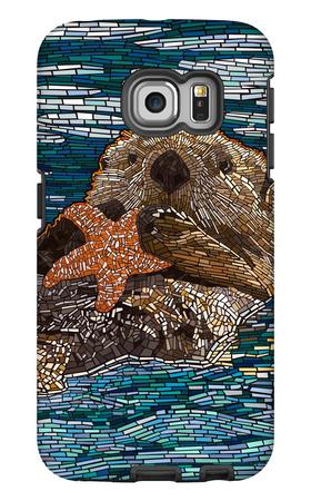 Sea Otter - Paper Mosaic Galaxy S6 Edge Case by  Lantern Press