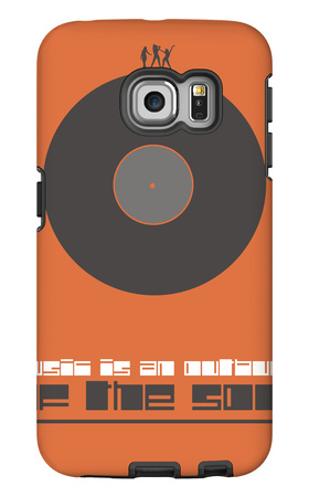 Music is the Soul Poster Galaxy S6 Edge Case by  NaxArt