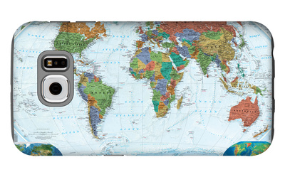 World Political Map, Decorator Style Galaxy S6 Case by  National Geographic Maps