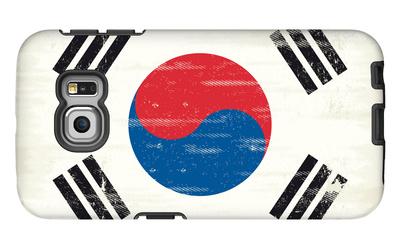 South Korea Grunge Flag. A Flag South Korea With A Texture Galaxy S6 Edge Case by  TINTIN75