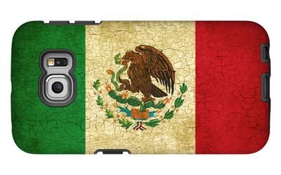Grunge Flag Of Mexico Galaxy S6 Edge Case by Graphic Design Resources