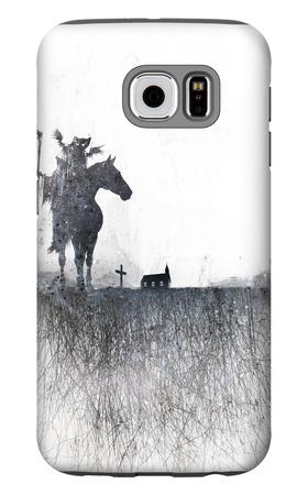 Death rides a horse Galaxy S6 Case by Alex Cherry