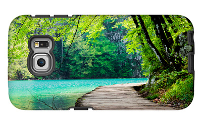 Wooden Path Near A Forest Lake Galaxy S6 Edge Case by  Lamarinx