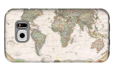 World Political Map, Executive Style Galaxy S6 Case by  National Geographic Maps