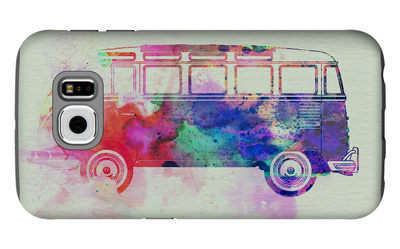 VW Bus Watercolor Galaxy S6 Case by  NaxArt