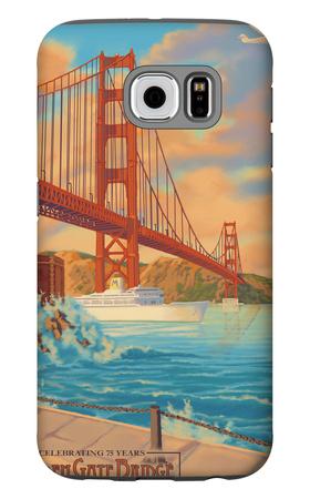 Golden Gate Bridge Sunset - 75th Anniversary - San Francisco, CA Galaxy S6 Case by  Lantern Press