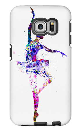 Ballerina Dancing Watercolor 2 Galaxy S6 Edge Case by Irina March