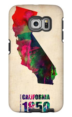 California Watercolor Map Galaxy S6 Edge Case by  NaxArt
