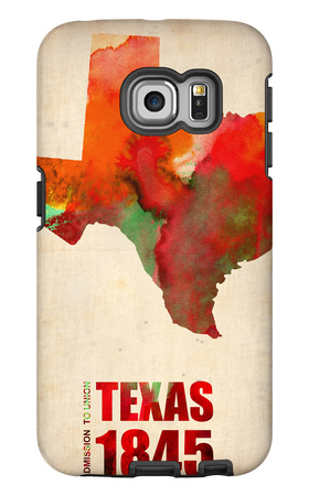 Texas Watercolor Map Galaxy S6 Edge Case by  NaxArt