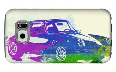 Porsche 911 Watercolor Galaxy S6 Case by  NaxArt