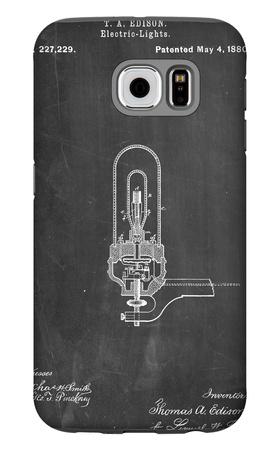 Thomas Edison Light Bulb Patent Galaxy S6 Case