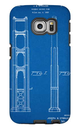 Golden Gate Bridge Patent Galaxy S6 Edge Case