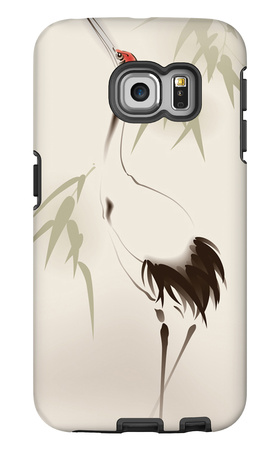 Oriental Style Painting, Red-Crowned Crane Galaxy S6 Edge Case by  ori-artiste