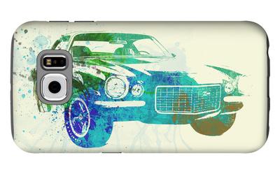 Chevy Camaro Watercolor Galaxy S6 Case by  NaxArt
