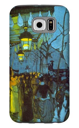 Avenue De Clichy Galaxy S6 Case by Louis Anquetin