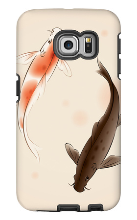 Yin Yang Koi Fishes In Oriental Style Painting Galaxy S6 Edge Case by  ori-artiste