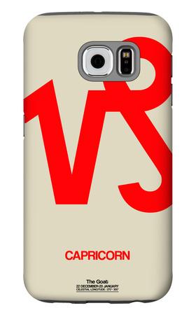 Capricorn Zodiac Sign Red Galaxy S6 Case by  NaxArt