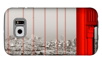 Golden Gate Bridge Closeup Panorama in San Francisco as the Famous Landmark. Galaxy S6 Case by Songquan Deng