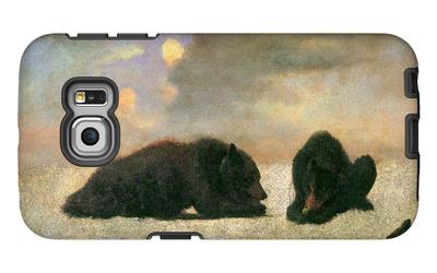 Grizzly Bears Galaxy S6 Edge Case by Albert Bierstadt