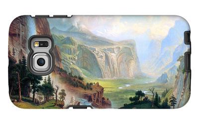 Half Dome in Yosemite Galaxy S6 Edge Case by Albert Bierstadt