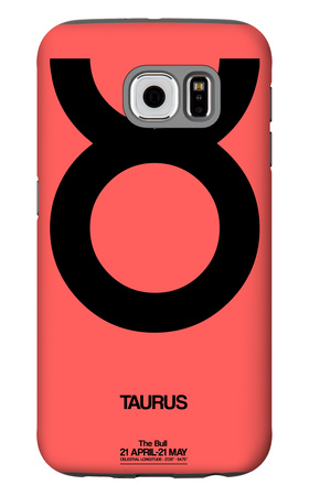Taurus Zodiac Sign Black Galaxy S6 Case by  NaxArt