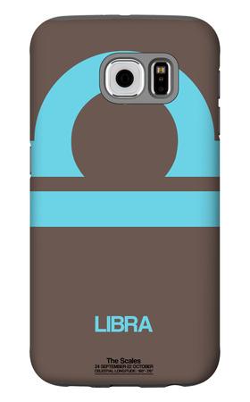 Libra Zodiac Sign Blue Galaxy S6 Case by  NaxArt