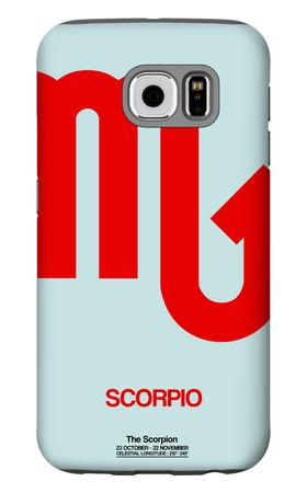 Scorpio Zodiac Sign Red Galaxy S6 Case by  NaxArt