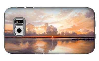 Sunset over Lake Galaxy S6 Case by Bruce Nawrocke