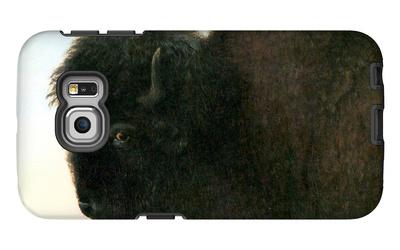 Buffalo Head Galaxy S6 Edge Case by Albert Bierstadt