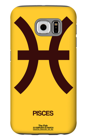 Pisces Zodiac Sign Brown Galaxy S6 Case by  NaxArt