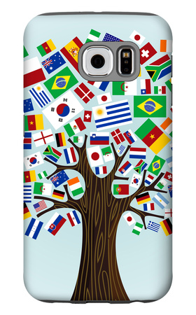 Flags Of The World Tree Galaxy S6 Case by  cienpies