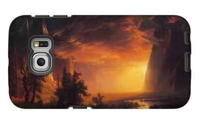 Sunrise in Yosemite Valley Galaxy S6 Edge Case by Albert Bierstadt