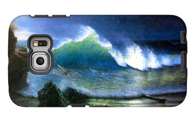 The Coast of the Turquoise Sea Galaxy S6 Edge Case by Albert Bierstadt
