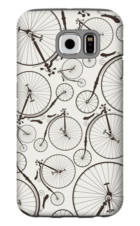Vintage Bicycle Seamless Galaxy S6 Case by  szsz
