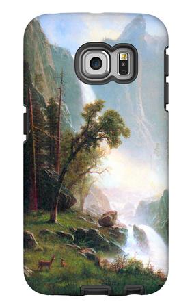 Yosemite Falls Galaxy S6 Edge Case by Albert Bierstadt