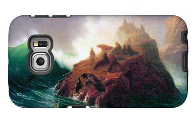 Seal Rock, California Galaxy S6 Edge Case by Albert Bierstadt