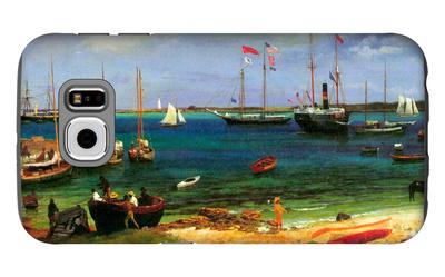 Nassau Port Galaxy S6 Case by Albert Bierstadt