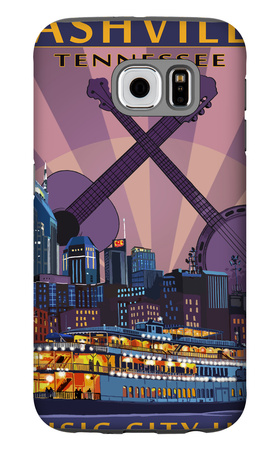 Nashville, Tennessee - Skyline at Night Galaxy S6 Case by  Lantern Press