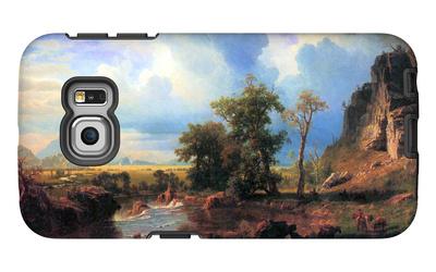 Northern Fork of the Plate, Nebraska Galaxy S6 Edge Case by Albert Bierstadt
