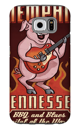 Memphis, Tennessee - Guitar Pig Galaxy S6 Case by  Lantern Press