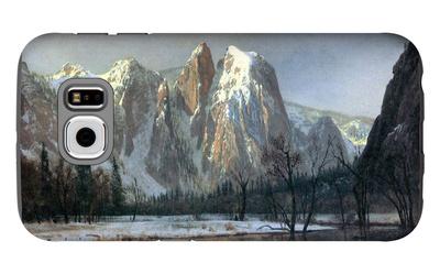 Cathedral Rocks, Yosemite Galaxy S6 Case by Albert Bierstadt