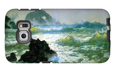 Seal Rock Galaxy S6 Edge Case by Albert Bierstadt