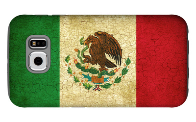 Grunge Flag Of Mexico Galaxy S6 Case by Graphic Design Resources