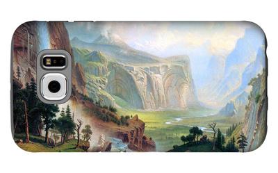 Half Dome in Yosemite Galaxy S6 Case by Albert Bierstadt