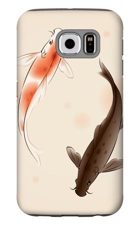 Yin Yang Koi Fishes In Oriental Style Painting Galaxy S6 Case by  ori-artiste