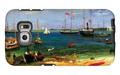 Nassau Port Galaxy S6 Edge Case by Albert Bierstadt
