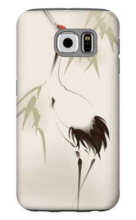 Oriental Style Painting, Red-Crowned Crane Galaxy S6 Case by  ori-artiste