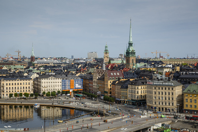 Skyline of Stockholm, Sweden, Scandinavia, Europe Photographic Print by Yadid Levy
