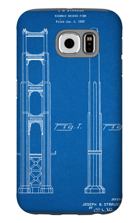 Golden Gate Bridge Patent Galaxy S6 Case