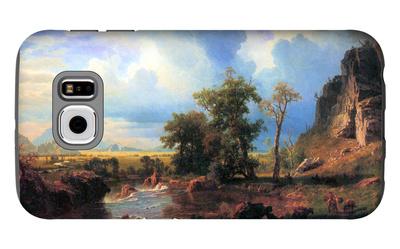 Northern Fork of the Plate, Nebraska Galaxy S6 Case by Albert Bierstadt